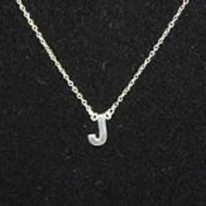 Jewelry - Silver Style Sterling Polished Initial Pendant